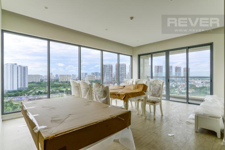 Phòng Khách Cho thuê căn hộ Diamond Island - Đảo Kim Cương 3PN, tháp Bahamas, đầy đủ nội thất, view sông thoáng đãng