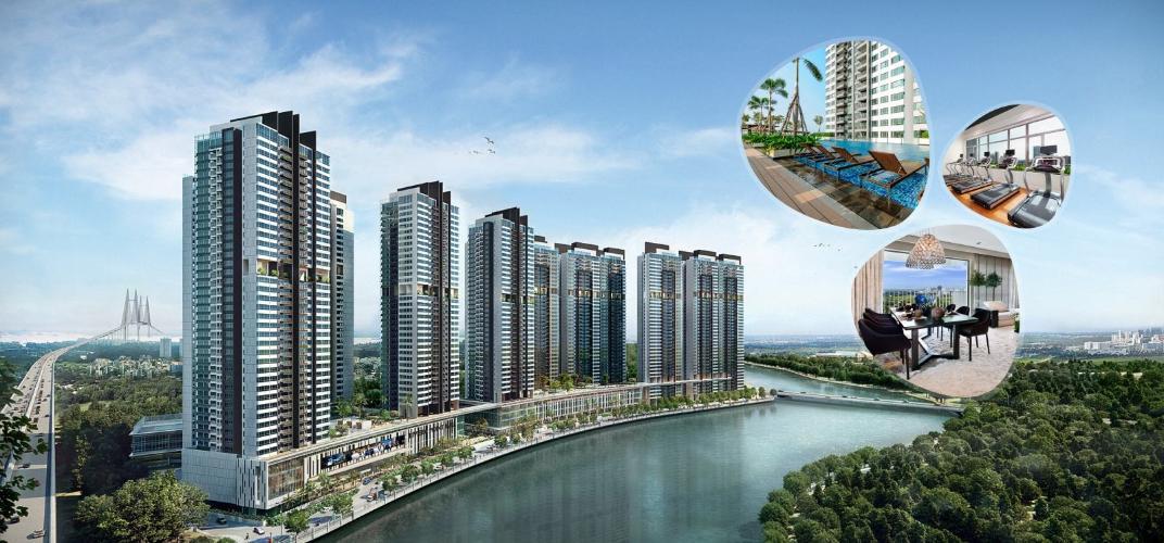 Riviera Point, Quận 7 Căn hộ Duplex Riviera Point tầng 20 bàn giao nội thất cơ bản, view thành phố.