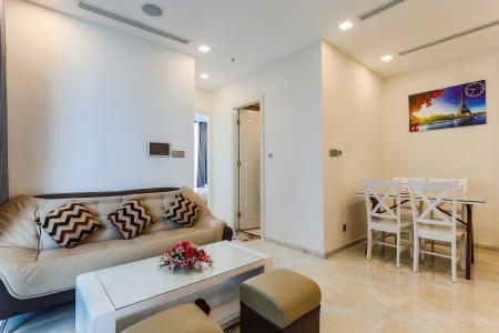 Căn hộ Vinhomes Golden River 2 phòng ngủ tầng thấp A3 full nội thất