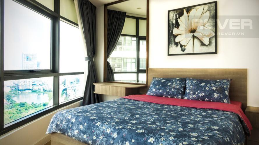 Phòng ngủ 2 Căn hộ City Garden tầng cao, 3PN đầy đủ nội thất, view đẹp