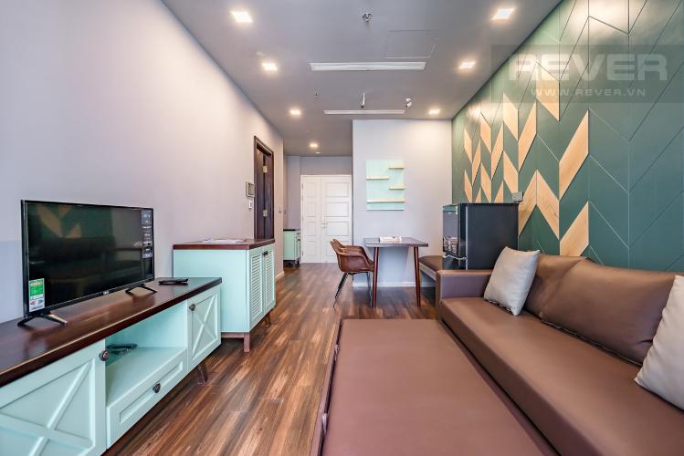Phòng Khách Bán căn hộ Vinhomes Golden River 1PN, tầng cao, đầy đủ nội thất, view sông thoáng mát