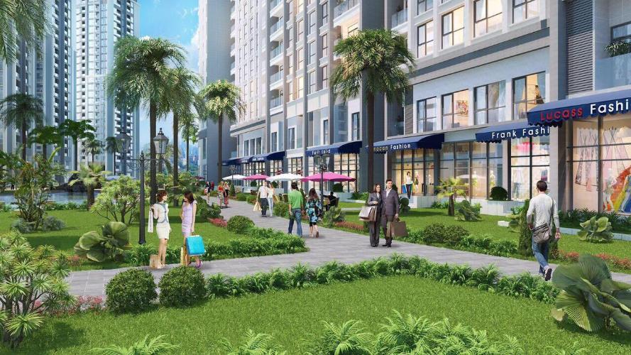 Nội khu Shop House Q7 Sài Gòn Riverside Shop-house Q7 Saigon Riverside hướng Nam, view đường phố nội khu.