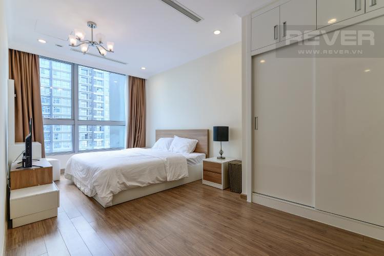 Phòng Ngủ 1 Cho thuê căn hộ Vinhomes Central Park 2PN 2WC, nội thất cơ bản, view sông