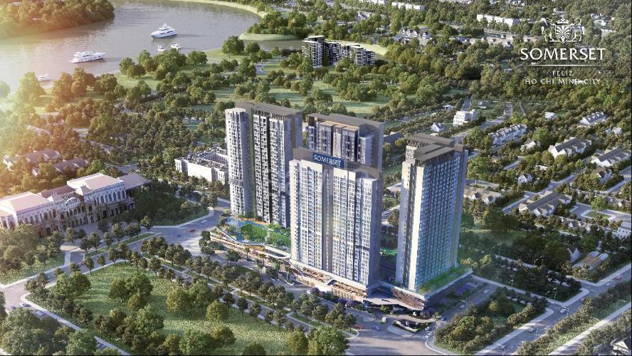 Bán căn hộ Feliz en Vista 2 phòng ngủ, tầng cao, tháp Cruz, diện tích 82m2, không có nội thất