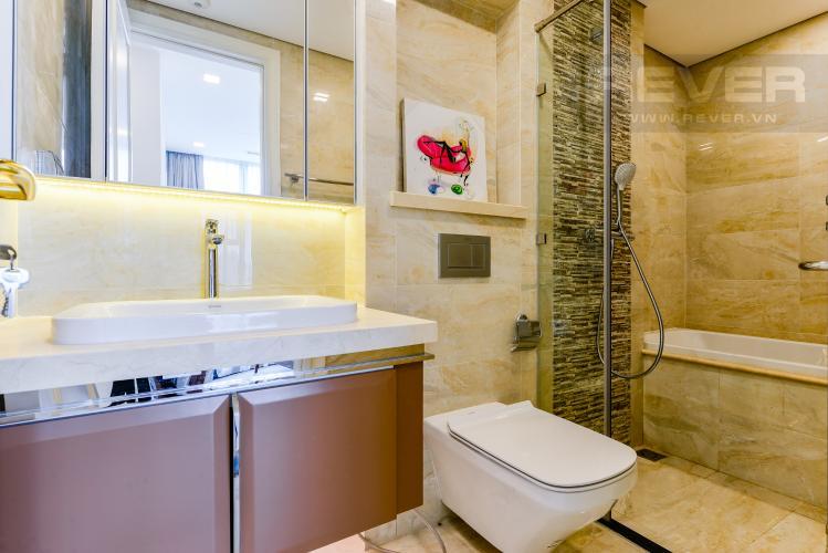 Phòng tắm 1 Cho thuê căn hộ Vinhomes Golden River tầng cao, 2PN đầy đủ nội thất, view sông thoáng đãng