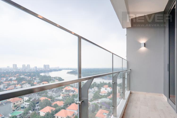 Ban Công Bán căn hộ The Nassim Thảo Điền tầng cao, 2PN, view sông