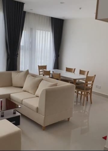 Phòng khách căn hộ Vinhomes Grand Park Căn hộ Vinhomes Grand Park view thành phố sầm uất, đón gió mát.