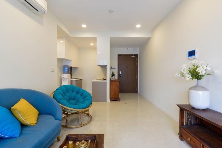 Phòng Khách Căn hộ Masteri Millennium tầng cao, 1PN, đầy đủ nội thất, view đẹp