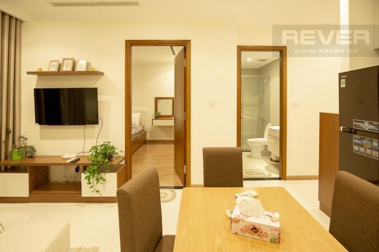 Phòng Khách Cho thuê căn hộ Vinhomes Central Park 2PN, tầng cao, tháp Landmark 3, đầy đủ nội thất, view thành phố