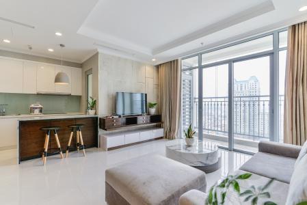 Căn hộ Vinhomes Central Park 3 phòng ngủ tầng trung C3 đầy đủ nội thất