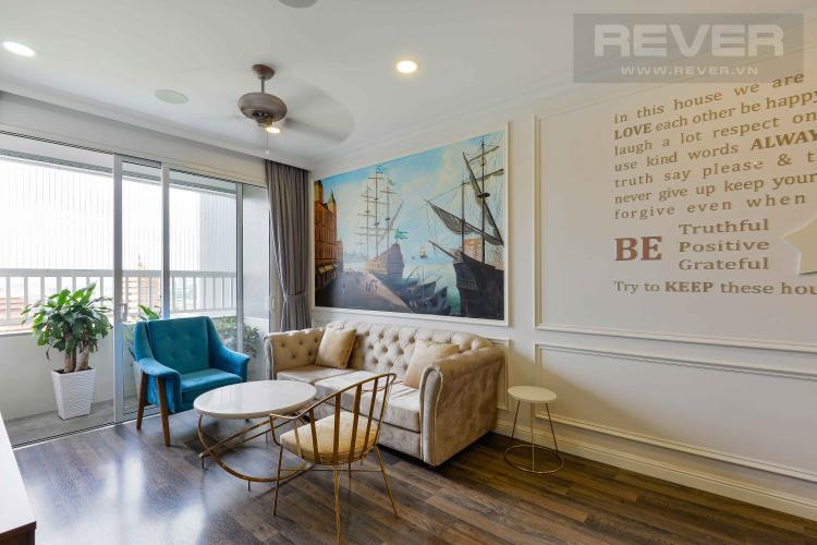 Phòng Khách Bán hoặc cho thuê căn hộ Lexington Residence tầng cao, 3 phòng ngủ, diện tích 97m2, đầy đủ nội thất