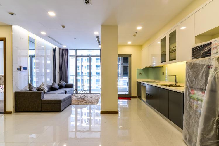 Căn hộ Vinhomes Central Park 2 phòng ngủ tầng cao P2 nội thất đầy đủ