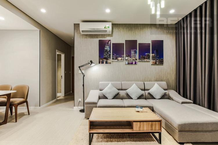 Phòng Khách Cho thuê căn hộ Diamond Island - Đảo Kim Cương 2PN, tầng cao, tháp Bahamas, đầy đủ nội thất, view sông yên tĩnh