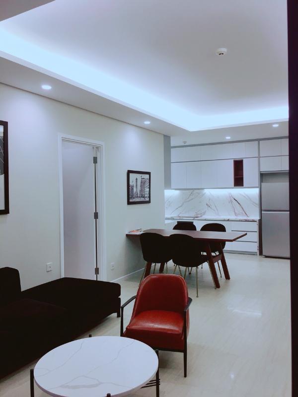 Phòng khách Cho thuê căn hộ Diamond Island - Đảo Kim Cương 2PN, tháp Bora Bora, đầy đủ nội thất, view sông thông thoáng