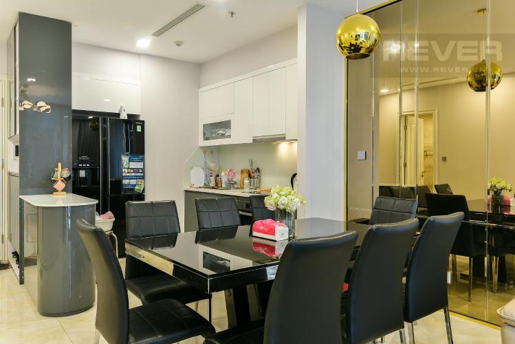 Phòng ăn và bếp căn hộ Vinhomes Golden River Bán hoặc cho thuê Vinhomes Golden River 2PN, tháp The Aqua 1, đầy đủ nội thất, view sông và nội khu