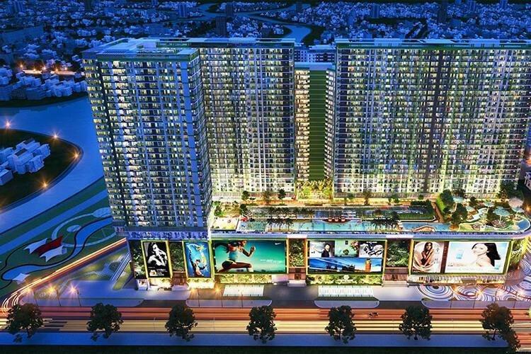 Toàn cảnh Topaz Elite Quận 8 Căn hộ Topaz Elite tầng thấp, ban công hướng Đông Nam, view thành phố.