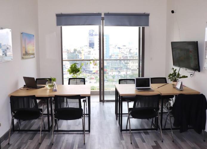 Căn hộ Office-tel Masteri Millennium đầy đủ nội thất, ban công thoáng.