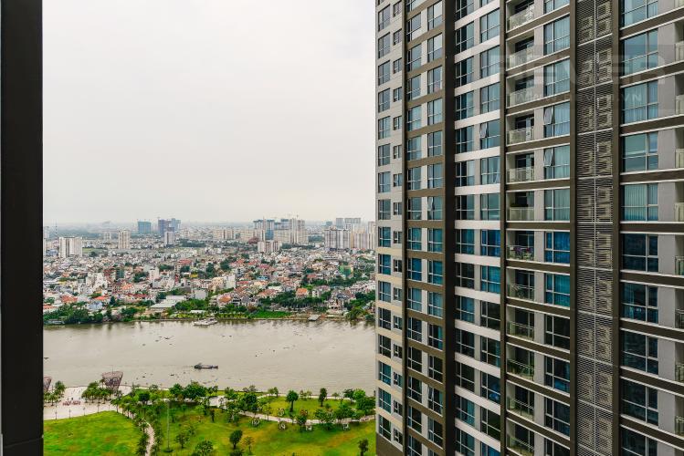 View Căn hộ Vinhomes Central Park 2 phòng ngủ tầng cao P5 view sông