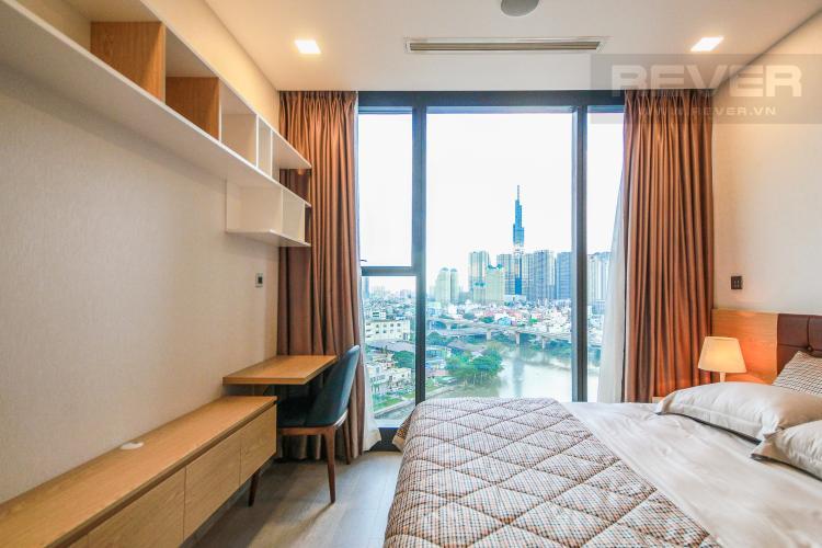 Phòng Ngủ 2 Cho thuê căn hộ Vinhomes Golden River 2PN, đầy đủ nội thất, view sông Sài Gòn và Landmark 81