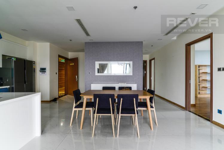 Phòng Ăn Cho thuê căn hộ Vinhomes Central Park 4PN, đầy đủ nội thất, view trực diện sông Sài Gòn