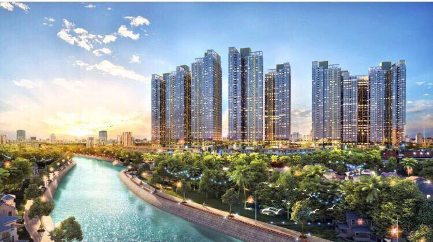 Sunshine City Sài Gòn, Quận 7 Căn hộ Sunshine City Sài Gòn ngắm nhìn thành phố lung linh về đêm.