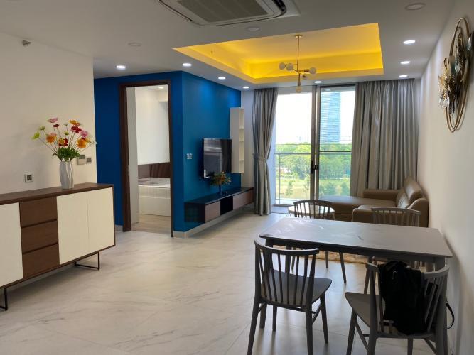 Phòng khách căn hộ Phú Mỹ Hưng Midtown Căn hộ 2 phòng ngủ Phú Mỹ Hưng Midtown tầng thấp, nội thất đầy đủ
