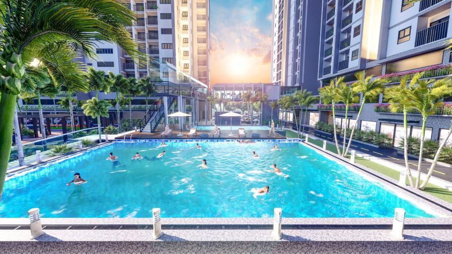Khu hồ bơi Căn hộ Eco Xuân tầng 12B cửa hướng Tây Bắc, thiết kế hiện đại