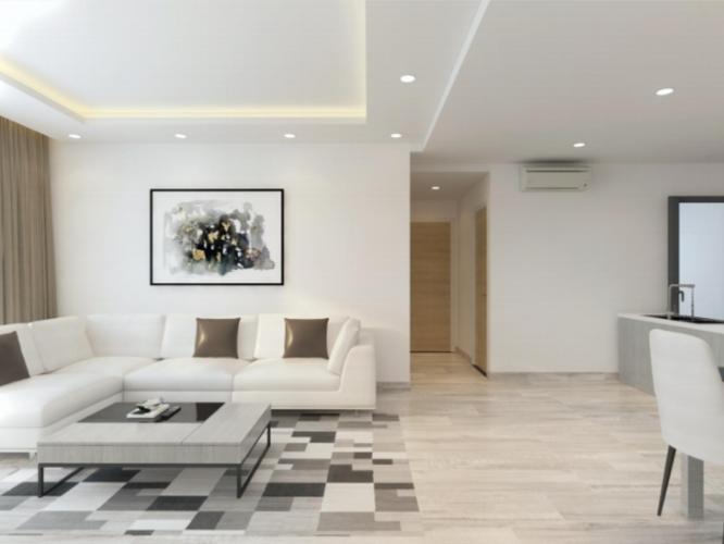 Phòng khách căn hộ Riviera Point Căn hộ Riviera Point bàn giao đầy đủ nội thất, 3 phòng ngủ.