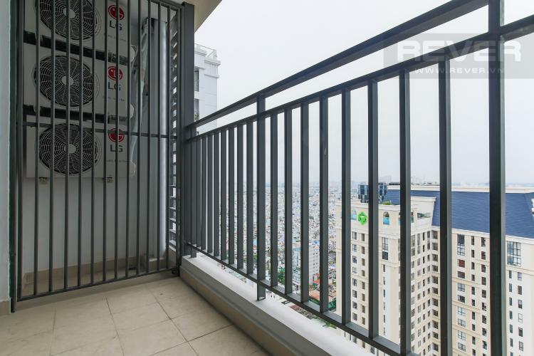 Balcony Căn hộ The Tresor tầng cao 2PN đầy đủ nội thất, có ban công
