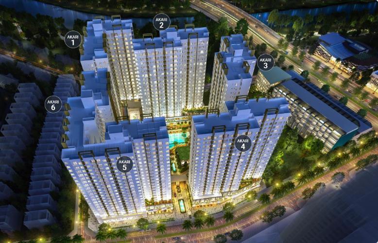 Akari City, Bình Tân Căn hộ Akari City tầng 5, bàn giao nội thất cơ bản, thiết kế hiện đại.