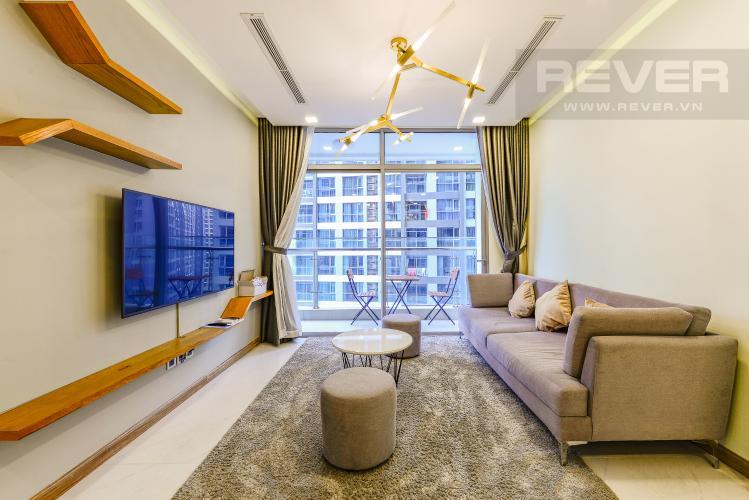 Phòng khách Căn hộ Vinhomes Central Park 2 phòng ngủ tầng cao P5 view sông
