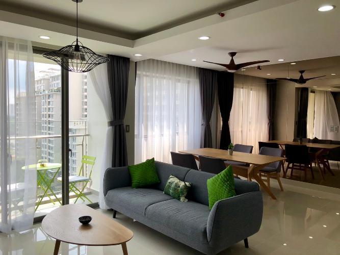 Phòng khách căn hộ Hưng Phúc Căn hộ Happy Residence đầy đủ nội thất sang trọng, view thành phố.