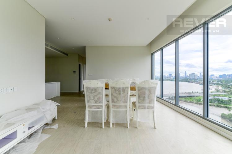 Phòng Khách Cho thuê căn hộ Diamond Island - Đảo Kim Cương 3PN, không có nội thất, view sông và Landmark 81