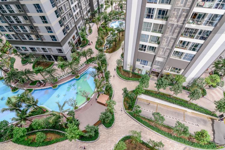 View Căn hộ Vinhomes Central Park 2 phòng ngủ tầng thấp P7 nhà trống