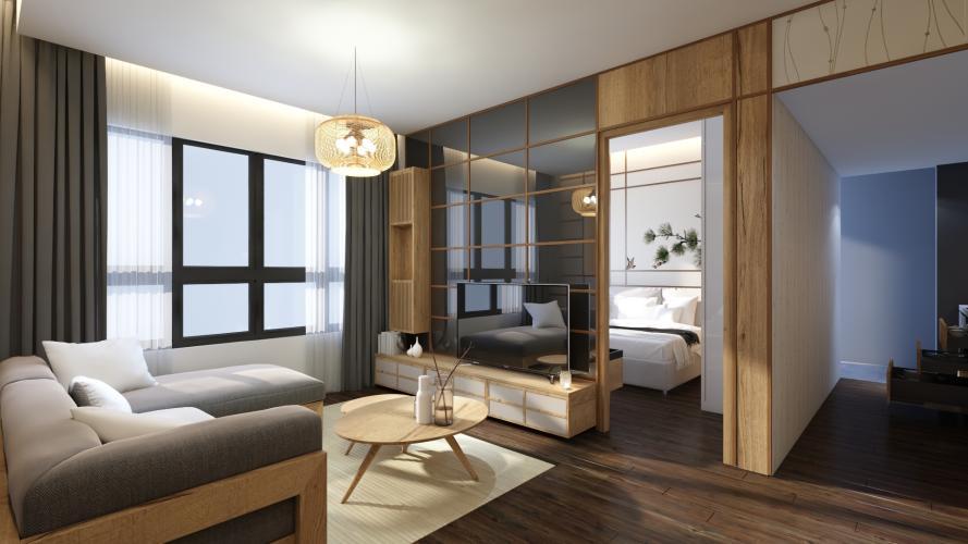 Nhà mẫu Akari City, Bình Tân Căn hộ Akari City tầng trung đón gió, bàn giao nội thất cơ bản