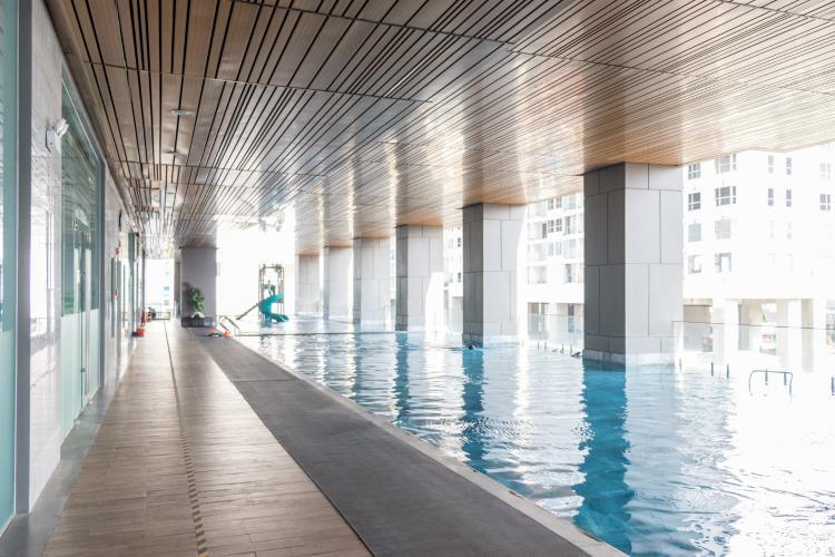 Hồ Bơi Bán căn hộ An gia Skyline 2PN, tầng thấp, đầy đủ nội thất, view hồ cảnh quan