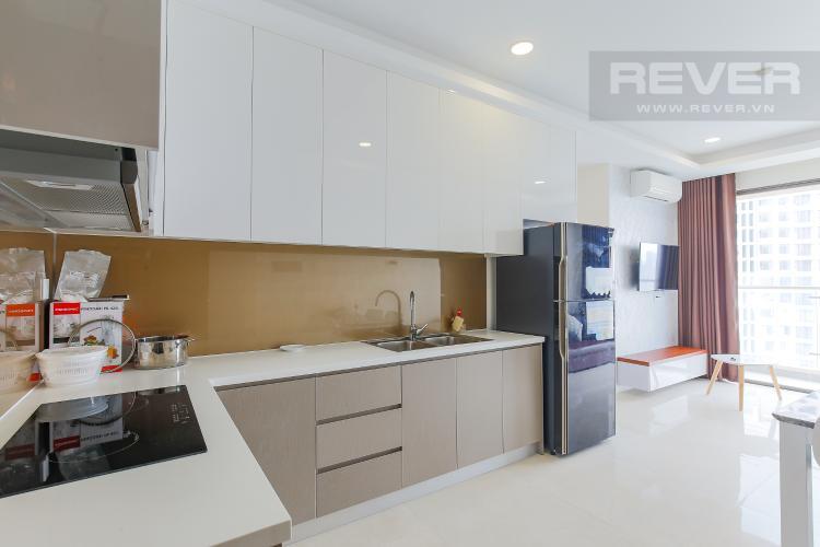 Phòng Bếp Căn hộ Masteri Millennium tầng cao 2PN đầy đủ nội thất view sông