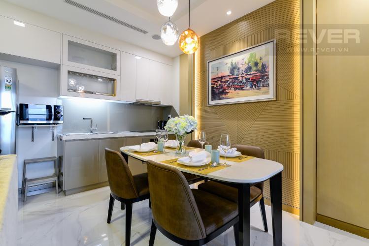 Phòng Ăn Căn hộ Vinhomes Central Park tầng cao, tháp Landmark 81, 1PN nội thất đầy đủ
