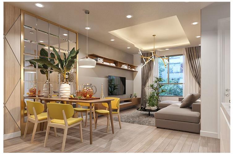Phối cảnh căn hộ Topaz Elite Căn hộ tầng cao Topaz Elite ban công hướng Tây Bắc, nội thất cơ bản.