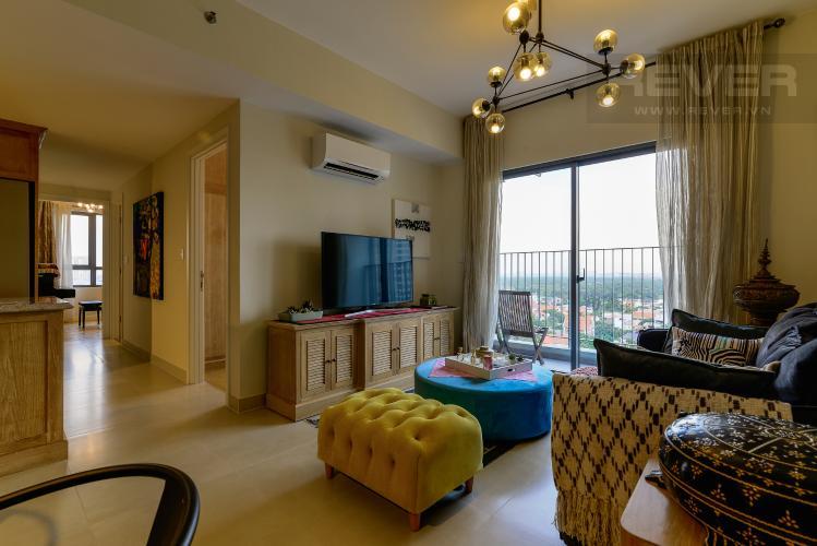 Phòng Khách Căn hộ Masteri Thảo Điền tầng trung 3PN, đầy đủ nội thất