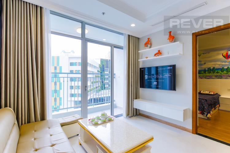 Phòng Khách Căn hộ Vinhomes Central Park tầng thấp Landmark 2 thiết kế đẹp, đầy đủ nội thất