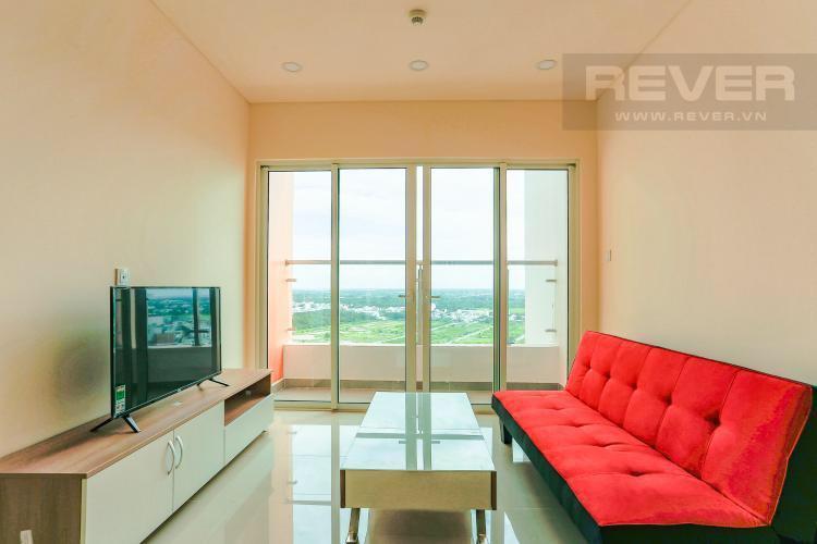 Phòng khách căn hộ DRAGON HILL 2 Bán hoặc cho thuê căn hộ 2 phòng ngủ Dragon Hill 2, diện tích 75m2, đầy đủ nội thất, hướng ban công Tây Nam