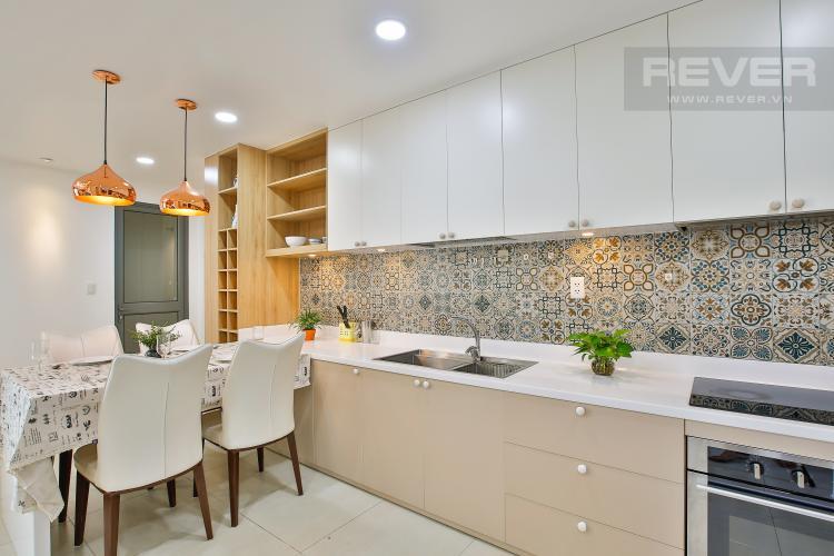 Bếp Cho thuê căn hộ Masteri Thảo Điền tầng trung, 2PN, đầy đủ nội thất, view hồ bơi