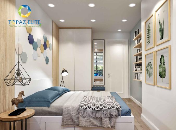 Phối cảnh căn hộ Topaz Elite Căn hộ tầng cao Topaz Elite 3 phòng ngủ, ban công hướng Đông Nam.