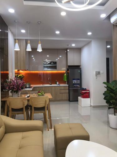 phòng khách căn hộ 2 phòng ngủ the sun avenue Căn hộ The Sun Avenue tầng trung, nội thất đầy đủ.