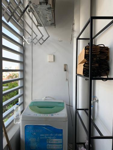 Loggia căn hộ RIVERGATE RESIDENCE Cho thuê căn hộ RiverGate Residence 1PN, tháp B, diện tích 30m2, đầy đủ nội thất