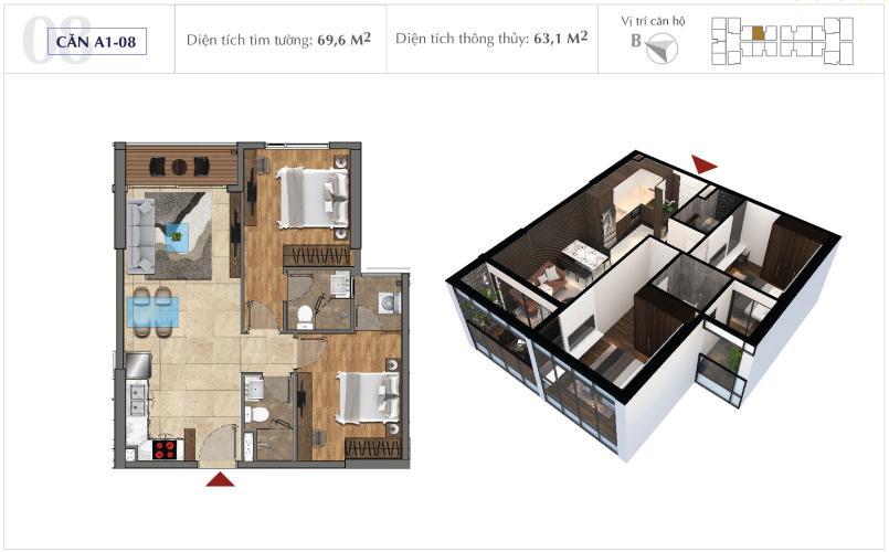 Bán căn hộ Office-tel Sunshine City Saigon diện tích 69m2