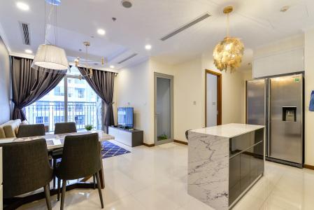 Căn hộ Vinhomes Central Park tầng cao, Landmark 6, 2PN đầy đủ nội thất