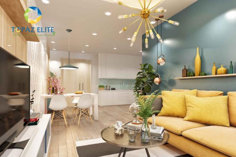 Phối cảnh căn hộ Topaz Elite Căn hộ Topaz Elite 2 phòng ngủ tầng 18, hướng Tây Bắc.