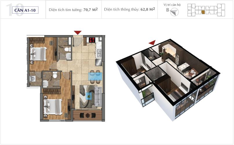 Office-tel Sunshine City Sài Gòn tầng cao, nội thất cơ bản.